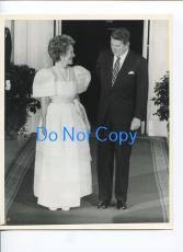 Ronald & Nancy Reagan US President First Lady Original UPI United Press Photo