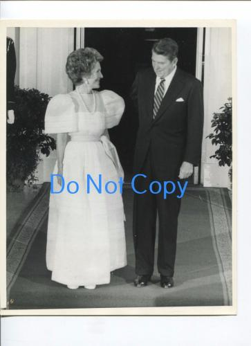 Ronald & Nancy Reagan US President First Lady Original UPI United Press Photo