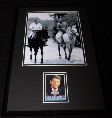 Ronald Reagan 11x17 Framed ORIGINAL Decision 2016 Card & Photo Set w/George Bush