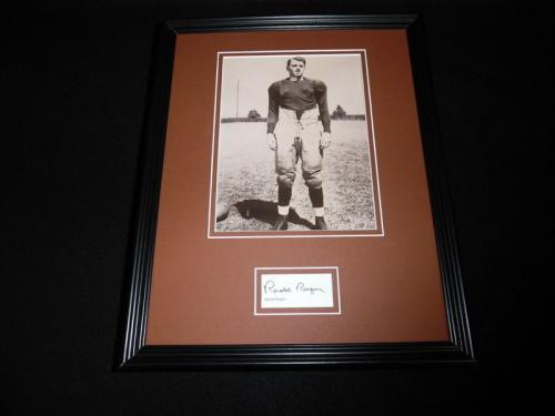 Ronald Reagan Facsimile Signed Framed 11x14 Photo Display