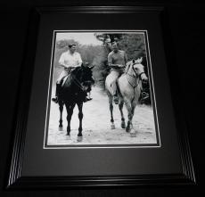 Ronald Reagan & George Bush on Horseback Framed 8x10 Photo Poster