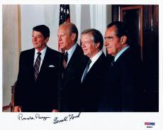 Ronald Reagan Gerald Ford Presidents signed 8x10 RARE PSA DNA B89831