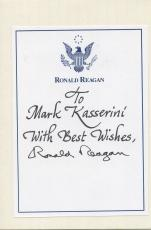 Ronald Reagan Hand Signed Autographed Presidential Bookplate Rare!!