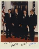 Ronald Reagan Jimmy Carter Richard Nixon Gerald Ford Signed Color 8x10 Photo