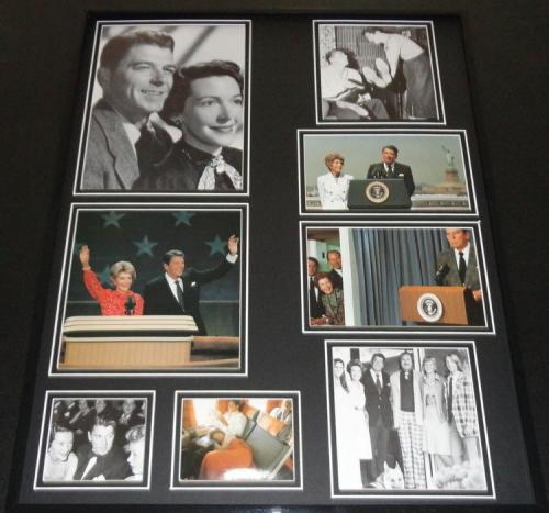 Ronald Reagan & Nancy Reagan Framed 16x20 Photo Collage C