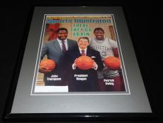 Ronald Reagan P Ewing Georgetown Framed ORIGINAL 1984 Sports Illustrated Cover
