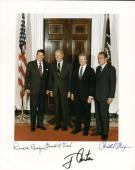 President Ronald Reagan Nixon Ford Carter Signed Autographed 8x10 Photo Beckett