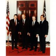 Ronald Reagan  Richard Nixon  Gerald Ford  Jimmy Carter Signed 8x10 Photo JSA