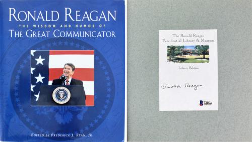 Ronald Reagan Signed The Great Communicator Hardcover Book BAS #A11566
