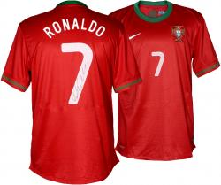 Autographed Cristiano Ronaldo Jersey - Red Back Mounted Memories