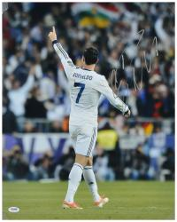 "Cristiano Ronaldo Real Madrid Autographed 16"" x 20"" Back Shot Photograph"