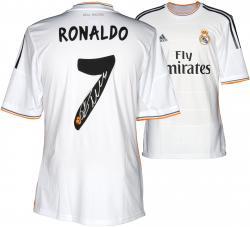 Signed Cristiano Ronaldo Jersey - C.F. White Back Mounted Memories