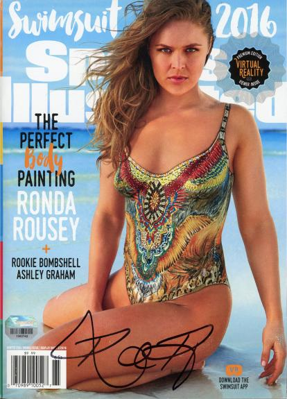 Ronda Rousey Ultimate Fighting Championship Autographed 2016 Sports Illustrated Swimsuit Issue