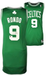 adidas Rajon Rondo Boston Celtics Autographed Swingman Jersey - Mounted Memories