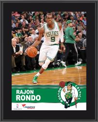 Rajon Rondo Boston Celtics Sublimated 10.5'' x 13'' Plaque - Mounted Memories