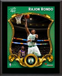 Rajon Rondo Boston Celtics Sublimated 10.5'' x 13'' Stylized Plaque - Mounted Memories
