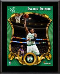 """Rajon Rondo Boston Celtics Sublimated 10.5"""" x 13"""" Stylized Plaque"""