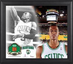 Rajon Rondo Boston Celtics Framed 15'' x 17'' Mosaic Collage with Team-Used Basketball-Limited Edition of 99 - Mounted Memories