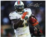 Ronnie Brown Autographed Picture - Miami Dolphins 8x10 Mounted Memories