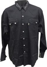 Ronnie Dunn signed owned & worn Black Panhandle Slim Western Shirt w/ 2000 insc (Brooks & Dunn)
