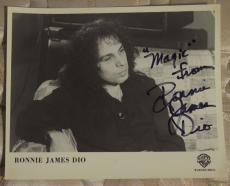 Ronnie James Dio Signed Autographed 8x10 Photo Fan Club Black Sabbath