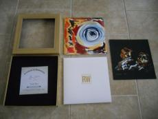 "Ronnie Ron Wood Rolling Stones Lucky Man 12"" Signed Autographed #'d Box Art Set"