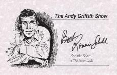 "RONNIE SCHELL ""THE ANDY GRIFFITH SHOW"" in ""THE FOSTER LADY"" Signed 8.5 x 5.5 Promo Sheet"