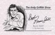 """RONNIE SCHELL """"THE ANDY GRIFFITH SHOW"""" in """"THE FOSTER LADY"""" Signed 8.5 x 5.5 Promo Sheet"""