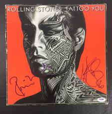 Ronnie Wood Charlie Watts Signed Auto The Rolling Stones Tattoo You Album Psa