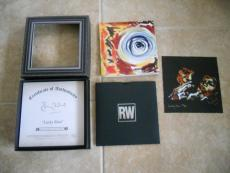 "Ronnie Wood Rolling Stones Lucky Man 7"" Signed Autographed #'d Box Art Set"