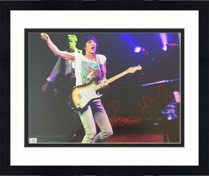 RONNIE WOOD SIGNED AUTOGRAPH CLASSIC ROLLING STONES STAGE 11x14 PHOTO COA RON