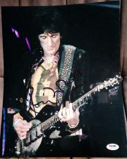 RONNIE WOOD SIGNED AUTOGRAPH ROLLING STONES CLASSIC 11x14 PHOTO PSA/DNA Z56672