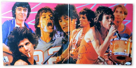 Ronnie Wood Signed Autographed Record Album Cover The Rolling Stones JSA HH37499