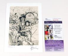 "Ronnie Wood Signed Original Lithograph 6"" x 4 1/4"" #'d 130/600 JSA Auto"
