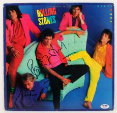 """Ronnie Wood Signed Rolling Stones """"dirty Work"""" Album Cover Psa/dna #g83621"""