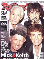 RONNIE WOOD signed *ROLLING STONES* Rolling Stone Magazine W/COA