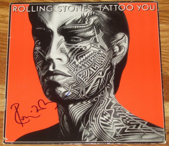 Ronnie Wood Signed Tattoo You Rolling Stones Album Proof Coa Ron Jagger Richards