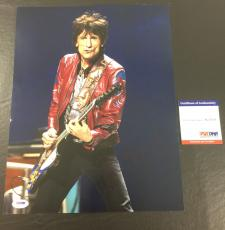 RONNIE WOOD SIGNED THE ROLLING STONES 'WITH GUITAR' 11x14 PHOTO PSA/DNA COA