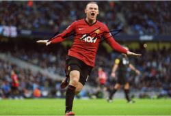 "Wayne Rooney Autographed 8"" x 12"" Action Photograph"