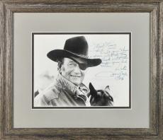 "Rooster Cogburn John Wayne ""1973"" Signed & Framed 8x10 Photo BAS #A89675"