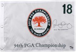 Rory McIlroy Autographed 2012 PGA Championship #18 Embroidered Pin Flag with 2012 PGA Champ Inscription - Limited Edition of 100