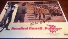 Rosalind Russell D.76 Jsa Signed Lobby Card Authentic Autograph