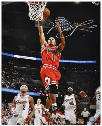 Derrick Rose Chicago Bulls Autographed 16'' x 20'' Action Photograph - Mounted Memories