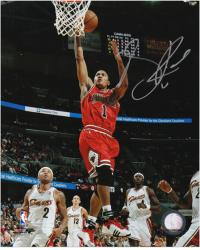 Derrick Rose Chicago Bulls Autographed 8'' x 10'' Action Photograph - Mounted Memories
