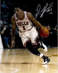 Derrrick Rose Autographed Bulls 11x14 Photo