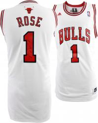 adidas Derrick Rose Autographed Swingman Jersey - White