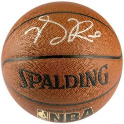 Spalding Derrick Rose Autographed Indoor/Outdoor NBA Basketball  - Mounted Memories