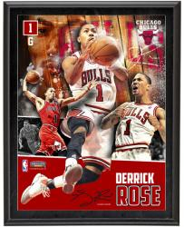Derrick Rose Chicago Bulls Sublimated 10.5'' x 13'' Player Collage Photograph Plaque - Mounted Memories