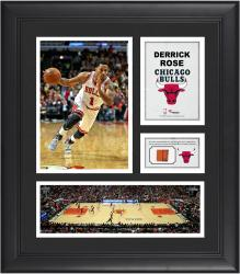 Derrick Rose Chicago Bulls Framed 15'' x 17'' Collage with Team-Used Ball - Mounted Memories