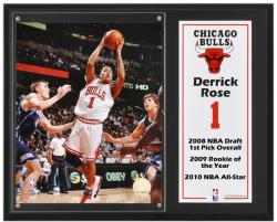 "Chicago Bulls Derrick Rose 12"" x 15"" Plaque with 8"" x 10"" Photograph & Plate - Mounted Memories"